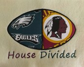 House Divided1  FootBall, Sports  Applique Embroidery Designs - 2 Sizes - CUSTOM  REQUEST WELCOME