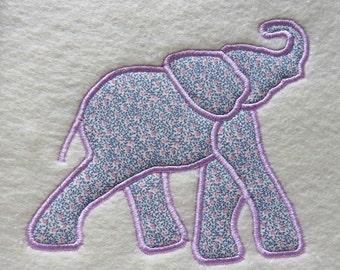 Elephant Embroidery  Applique Designs - 2 sizes