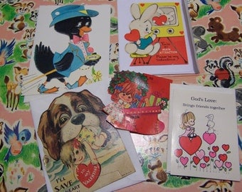 cute assortment of vintage valentines