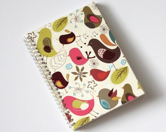 Large Coupon Organizer with 14 Pockets - Pre Printed Labels Included - Bright Birds