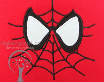 Spiderman Web Face Applique Embroidery Design This is NOT A PATCH
