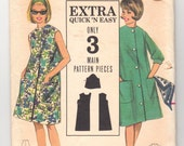 """Vintage Sewing Pattern Easy Beach Dress Butterick 3227 32"""" Bust - Free Pattern Grading E-book Included"""