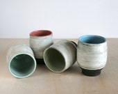 Handmade Modern Pottery Tumbler Set of 4