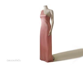Vintage 70s JOHN KLOSS Avant Garde Nightgown - Cira Asymmetric Nylon New Old Stock