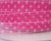 10m Sheer Spotty Pink Ribbon