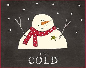 Snowman Label