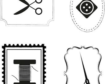 Mini Sewing Kit Label