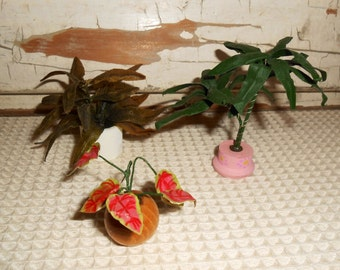 Vintage Dollhouse Miniature Potted Plants