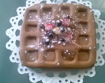Waffle with Fruit Christmas Ornament or Holiday Gift Tag