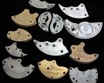 Destash Steampunk Watch Clock Parts Movements Plates Art Grab Bag RP 44