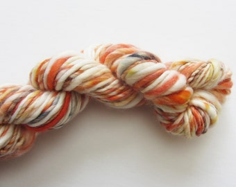 Peaches & Cream.  Handspun yarn WOOL FREE