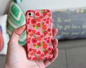 SALE: iPhone case with pretty poppy pattern