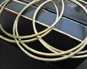 hammered brass bangle bracelet - perfect for stacking