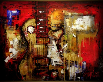 Original Painting - Modern Abstract Art by SLAZO - 48x60 - Made to Order