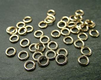 10pcs 4mm Gold Filled Closed Jump Ring ~ 22 gauge (CG1393)
