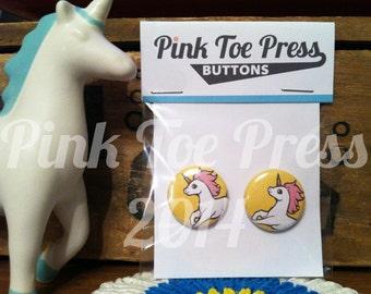 Unicorn Pinback Button Pack of 2