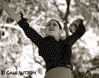 Dancer - Flamenco - Fine Art Print - Woman Dancer - Toned Photograph - Dancing - Home Decor - Spanish - Spanish Dance - Office Decor - Sepi