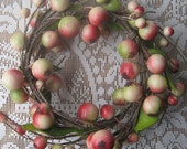 Berry Wreath Millinery Fruit For Hats Christmas Craft Projects Rosy Red And Cream
