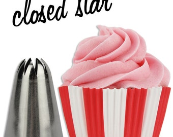 Closed Star Cupcake Decorating Tip #848