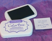 ROYAL PURPLE / Dark Purple Color Box by Stephanie Barnard Dye Ink Pad