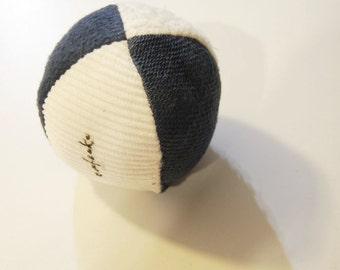 Organic Contrast Sensory Small Fabric Ball Montessori Toddler Baby Black White Toy