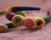 Needle Felted Wool Girl's Headband
