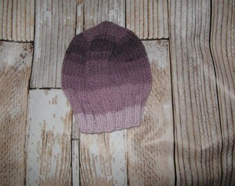 One size fits many   Hand knit acrylic blend  striped