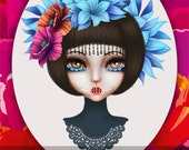 Instand Download - Day of the Dead Girl - postcard