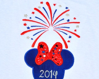 Minnie Mouse vacation trip with name monogram available