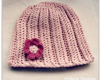 Download Now - CROCHET PATTERN Baby's Ribbed Beanie - Pattern PDF