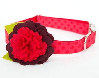 Flower Dog Collar - Puppy Love Posey