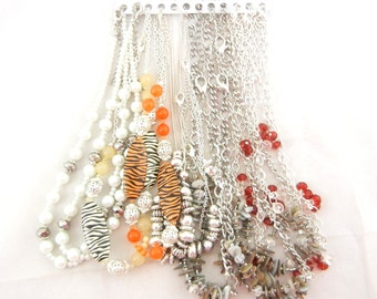 """CHAINS- N406 Variety 13 Silver-tone 16"""" and 18"""" Fancy Finished Fashion Necklace Chains"""