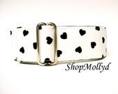Greyhound martingale,  Martingale collar, sighthound, Great Dane, Galgo collar, Podenco, Saluki, Valentines Day, hearts
