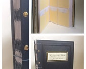 SAMPLE Library Card Wedding Guest Book Vintage