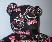 Tampa Bay Buccaneers Football Party Teddy Bear Mascot Florida Sunshine Pillow