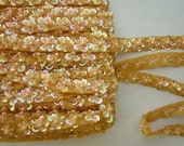 AMBER Sequin Pearl Glass Sead Bead Beaded Flower Ribbon Trim Applique Bridal Scrapbook Doll Quilt
