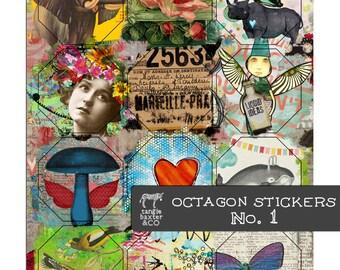Octagon Stickers No. 1