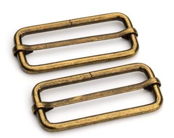 """10pcs - 2"""" Adjustable Slide Buckle - Antique Brass - Free Shipping (SLIDE BUCKLE SBK-130)"""