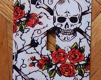 Skulls and Roses Switchplate