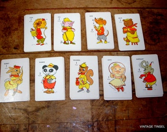 Animal Fun Card Game, No. 445A, Child's Card Game  (85-14)