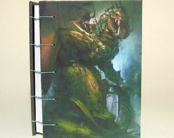 The Dragon Rider - Coptic Bound Blank Journal, Diary, Notebook.