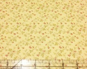 Quilting Cotton fabric | 3 Sisters Favorite | Lemon Yellow Rose 3734 14