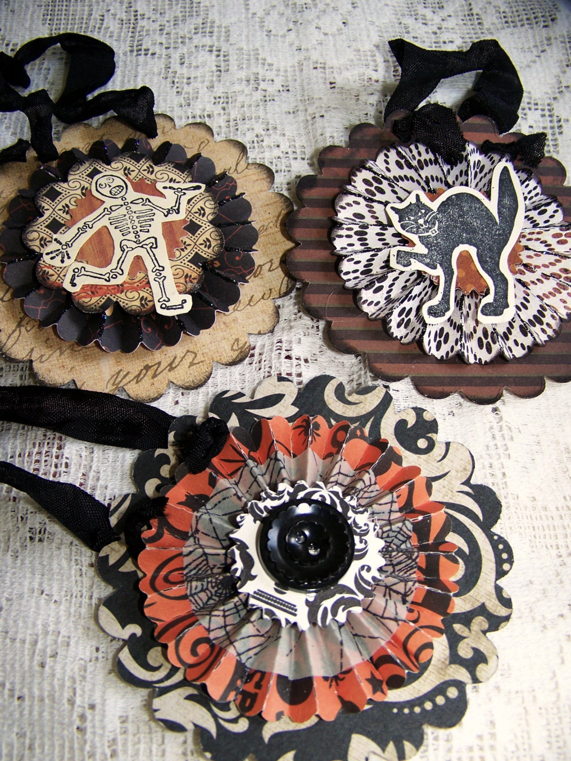 Instant Collection Handmade Halloween Ornaments Vintage