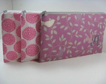 4 Medium -  Personalized Bridesmaid Clutches -  Monogrammed Bridesmaid Gift - Bridesmaid Bag,  Makeup Bag -  Chevron - Your Design