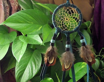 Turquoise and Pheasant Dreamcatcher