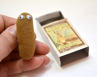 Poo brooch in matchbox plush accessory poo in a box