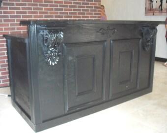 All Satin Black Antique Repro Counter