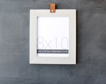 8x10 leather collection picture frame (natural sand colored finish) . 8x10 handmade picture frame