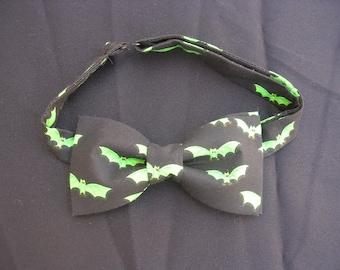 Black and Green Bats Bow Ties