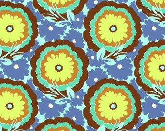 Buttlercups Cyan AB62 - Soul Blossoms - Amy Butler- Available in Fat Quarters thru Yards - You Choose your Length